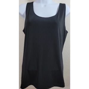 Easywear By Chico's Black Jersey Knit Tank Top 2